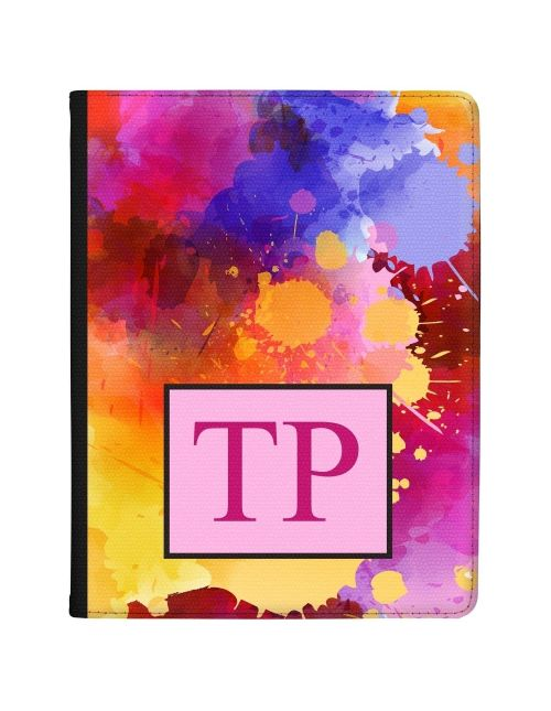Multi-coloured Splashes of Watercolours tablet case available for all major manufacturers including Apple, Samsung & Sony