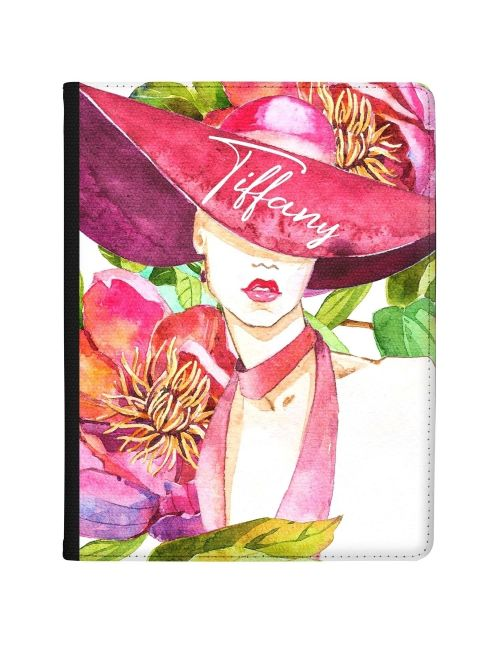 Watercolour Woman with Hat tablet case available for all major manufacturers including Apple, Samsung & Sony