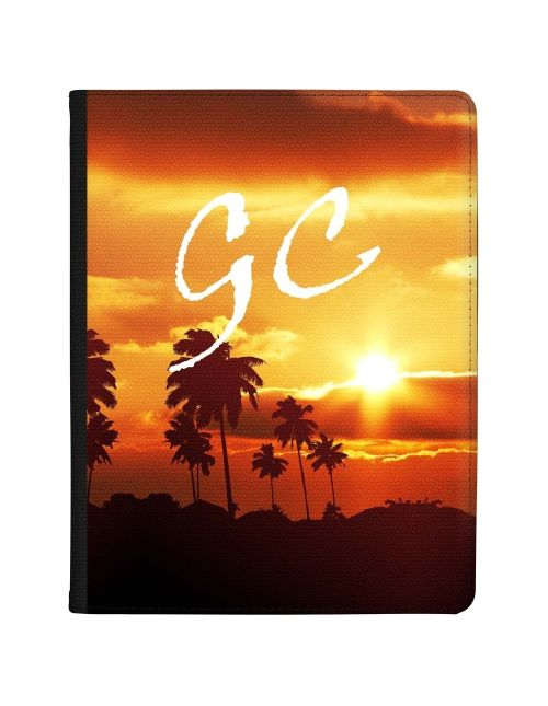 Realistic Palm Trees at Sunset tablet case available for all major manufacturers including Apple, Samsung & Sony