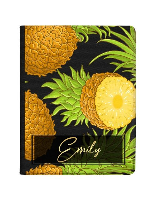 Transparent with Pineapples tablet case available for all major manufacturers including Apple, Samsung & Sony