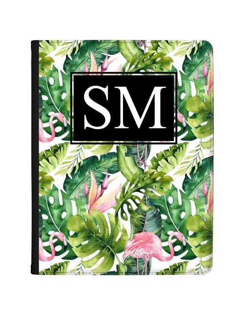 Green Leaves and a Pink Flamingo tablet case available for all major manufacturers including Apple, Samsung & Sony