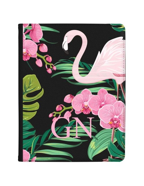 Flamingo Amongst Pink and Green Leaves tablet case available for all major manufacturers including Apple, Samsung & Sony
