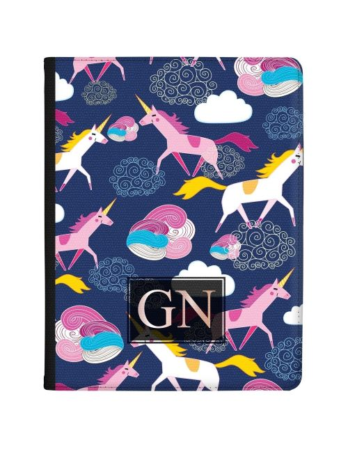 Multi-coloured Unicorns and Clouds tablet case available for all major manufacturers including Apple, Samsung & Sony