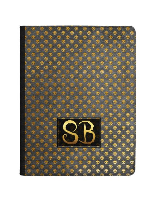 Golden Skulls on a Clear background tablet case available for all major manufacturers including Apple, Samsung & Sony