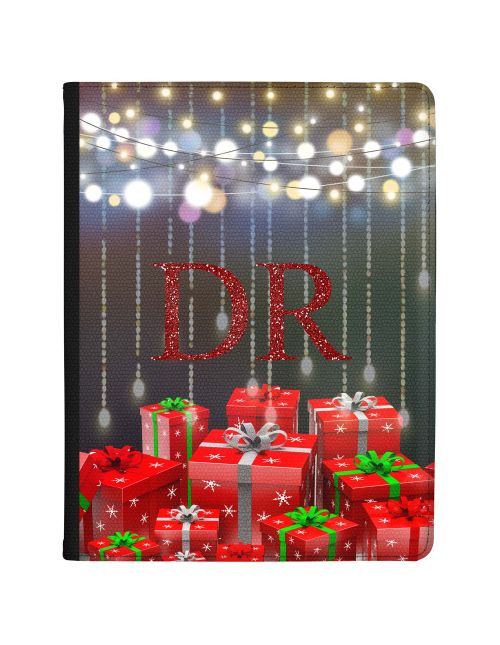 Christmas Gifts and Festive Lights on a Transparent Background tablet case available for all major manufacturers including Apple, Samsung & Sony