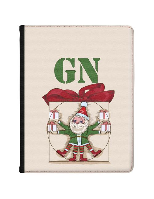 Perfect Christmas Elf and Red Ribbon on Khaki Beige Background tablet case available for all major manufacturers including Apple, Samsung & Sony