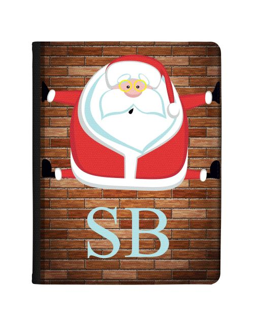 Funny Santa Claus with Glasses Stuck in Chimney tablet case available for all major manufacturers including Apple, Samsung & Sony