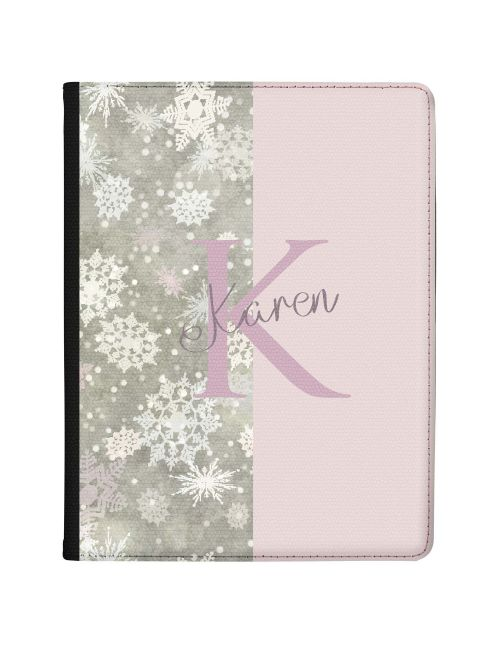 Half Snow Grey Pattern, Half Light Pink Signature tablet case available for all major manufacturers including Apple, Samsung & Sony