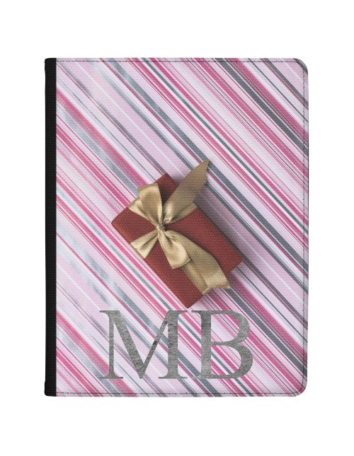 Christmas Present on Candy Stripped Background tablet case available for all major manufacturers including Apple, Samsung & Sony