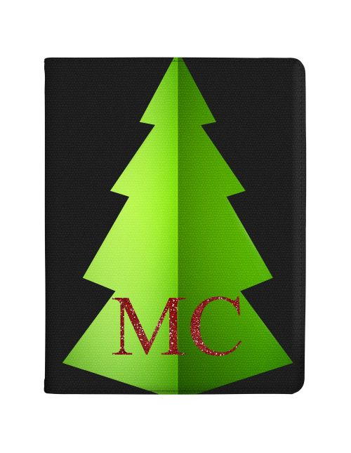 Christmas Tree with Red Initials and Clear Background tablet case available for all major manufacturers including Apple, Samsung & Sony