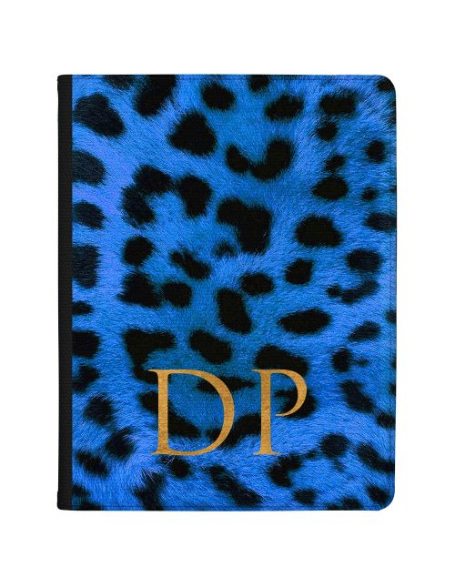 Leopard Print - Sapphire Blue tablet case available for all major manufacturers including Apple, Samsung & Sony
