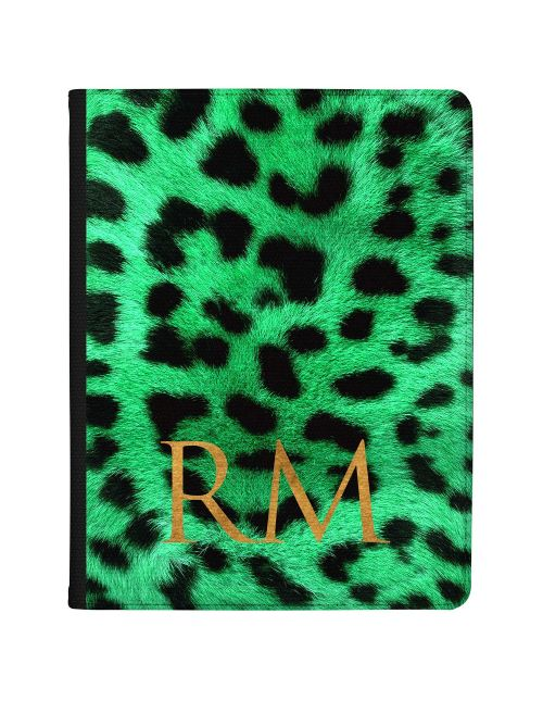 Leopard Print - Emerald Green tablet case available for all major manufacturers including Apple, Samsung & Sony