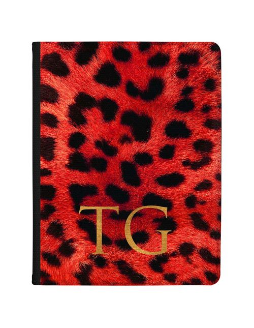 Leopard Print - Red tablet case available for all major manufacturers including Apple, Samsung & Sony