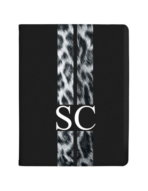 Racing Stripes - Snow Leopard tablet case available for all major manufacturers including Apple, Samsung & Sony
