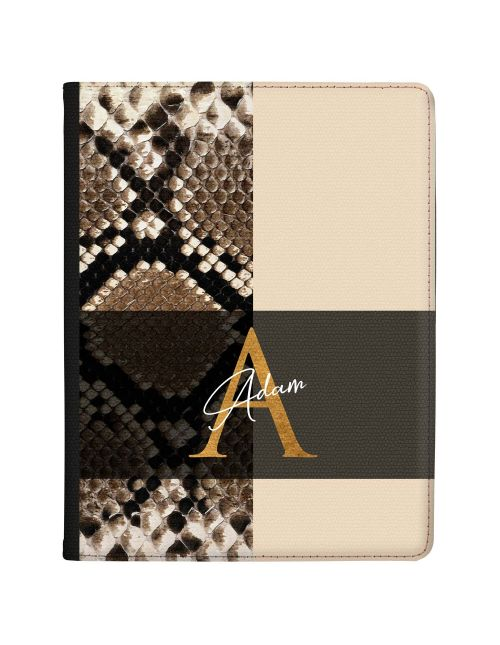 Rattlesnake Print With Divide tablet case available for all major manufacturers including Apple, Samsung & Sony