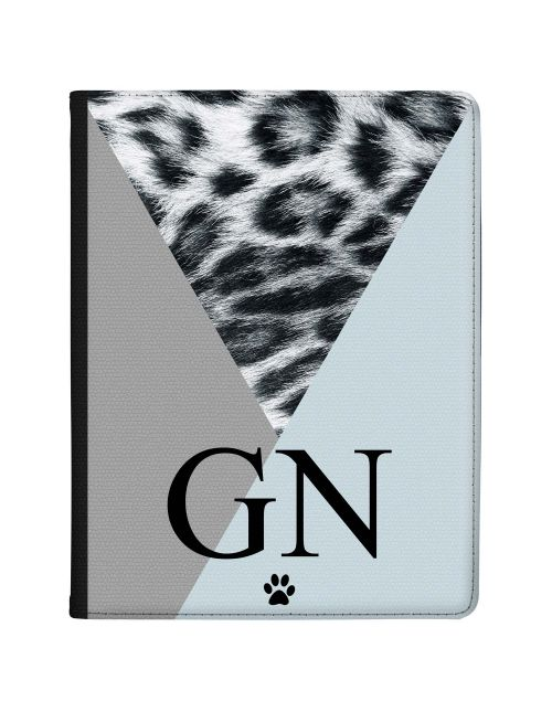 Snow Leopard With Geometric Triangles tablet case available for all major manufacturers including Apple, Samsung & Sony