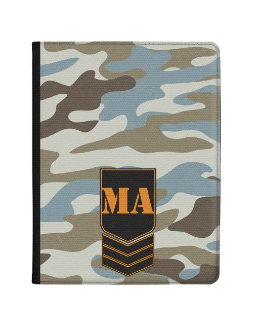 Grey Blue Camo tablet case available for all major manufacturers including Apple, Samsung & Sony