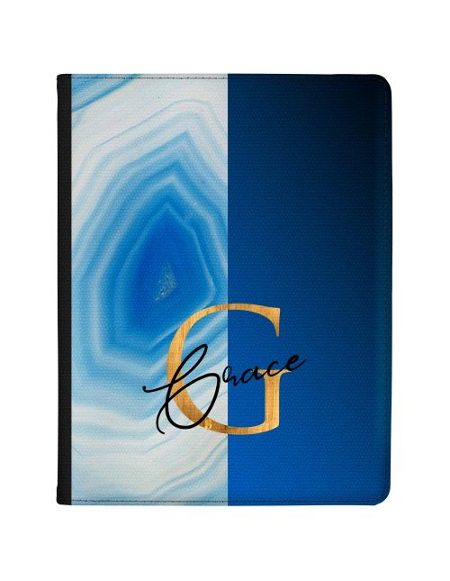Half Blue And Silver Agate Half Blue  tablet case available for all major manufacturers including Apple, Samsung & Sony