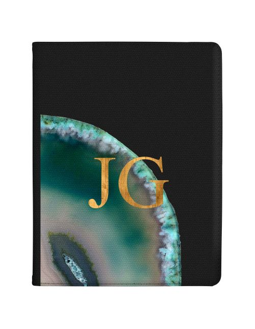 Emerald And Jade Geode tablet case available for all major manufacturers including Apple, Samsung & Sony