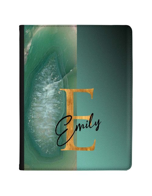 Half Jade Agate, Half Green tablet case available for all major manufacturers including Apple, Samsung & Sony