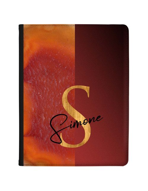 Half Orange Gold Agate Half Deep Red tablet case available for all major manufacturers including Apple, Samsung & Sony
