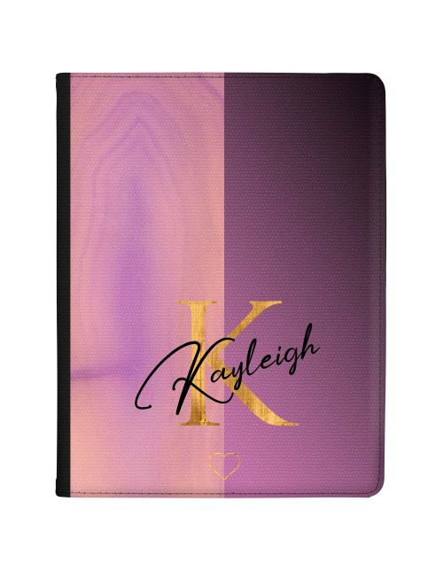 Half Cool Pink Half Purple tablet case available for all major manufacturers including Apple, Samsung & Sony