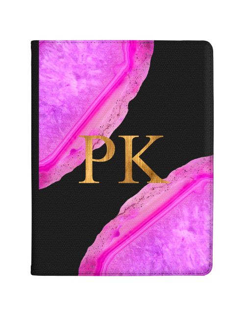 Transparent With Hot Pink Agate tablet case available for all major manufacturers including Apple, Samsung & Sony