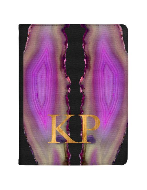 Transparent With Purple And Pink Mirrored Geodes tablet case available for all major manufacturers including Apple, Samsung & Sony
