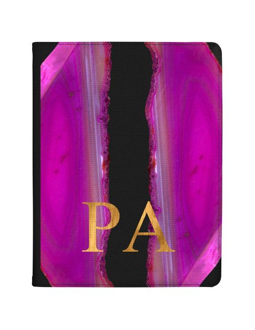 Pink And Purple Sliced Agate tablet case available for all major manufacturers including Apple, Samsung & Sony