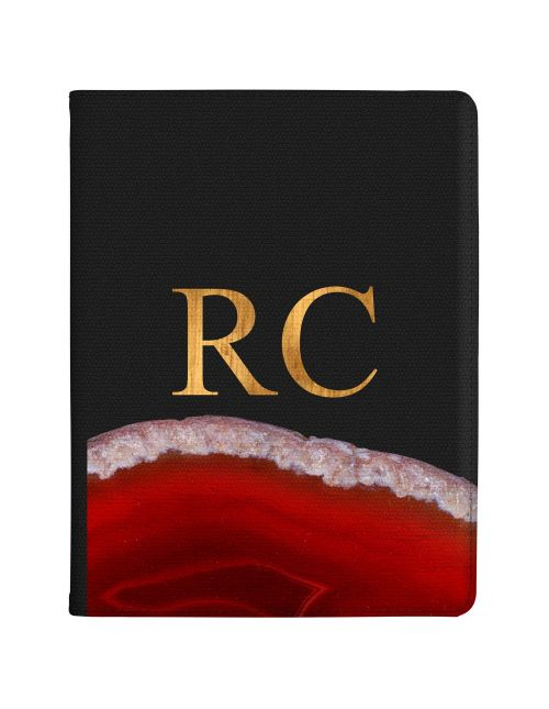 Transparent With Deep Red Agate tablet case available for all major manufacturers including Apple, Samsung & Sony