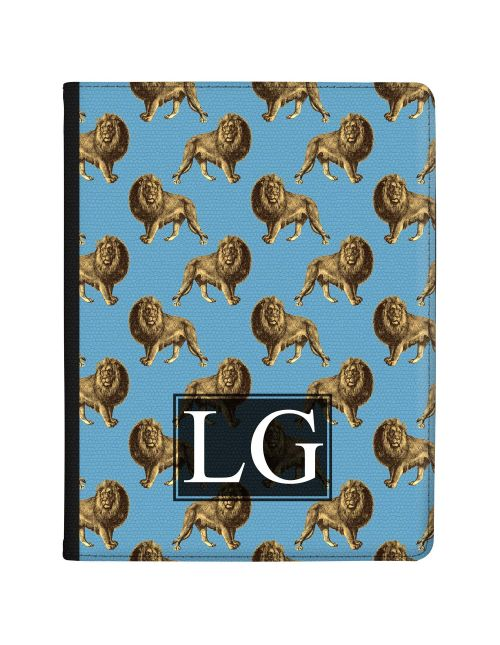 Transparent with Golden Repeating Lion Pattern tablet case available for all major manufacturers including Apple, Samsung & Sony