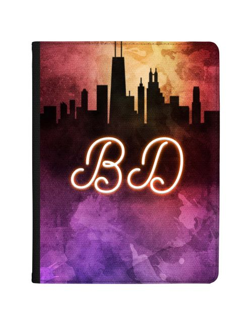 Neon City Skyline tablet case available for all major manufacturers including Apple, Samsung & Sony