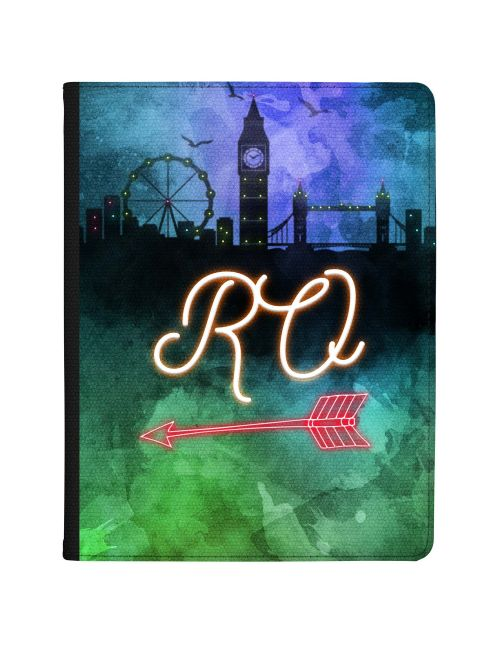 Neon Sign On London Skyline tablet case available for all major manufacturers including Apple, Samsung & Sony