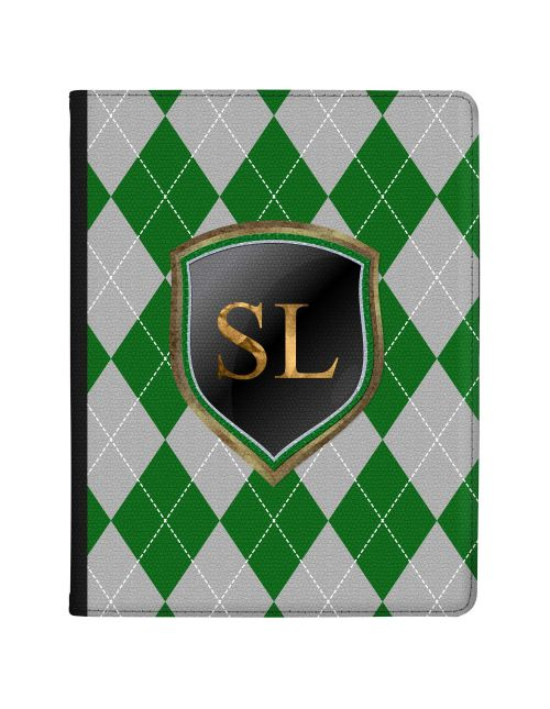 Green And Silver Coats Of Arms tablet case available for all major manufacturers including Apple, Samsung & Sony