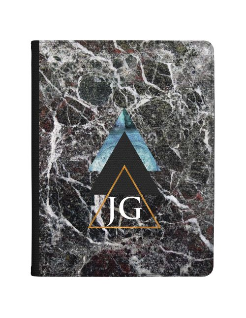 Dark Marble With Geometric Triangles tablet case available for all major manufacturers including Apple, Samsung & Sony