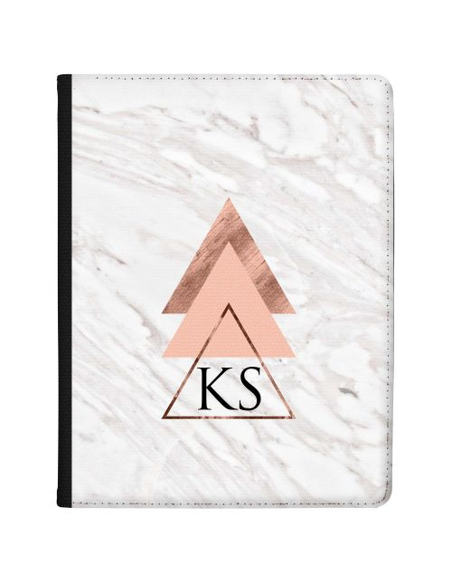 Geometric Pyramids On White And Grey Marble tablet case available for all major manufacturers including Apple, Samsung & Sony