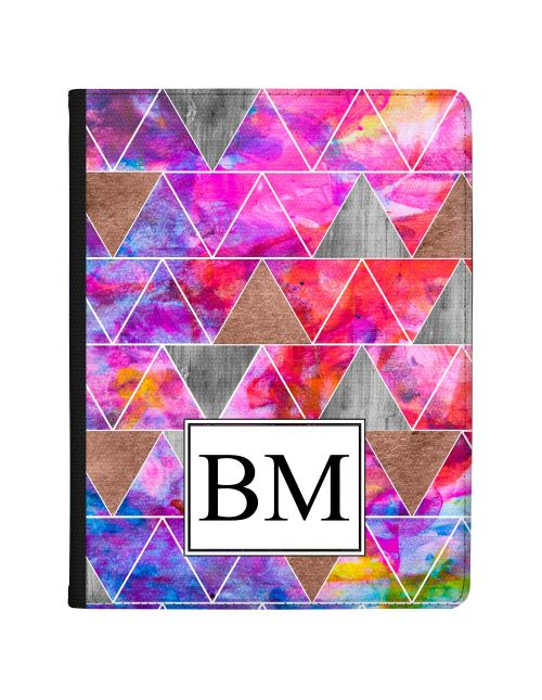 Modern Watercolour And Metallic Geometric Design  tablet case available for all major manufacturers including Apple, Samsung & Sony