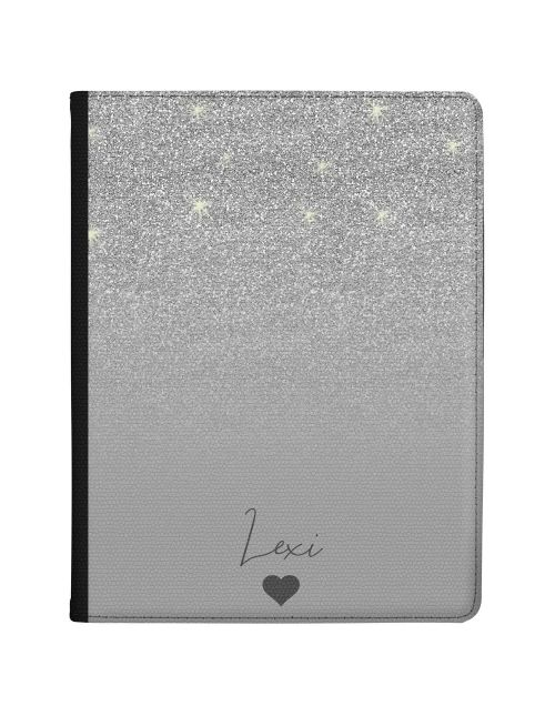 Silver Glitter Effect tablet case available for all major manufacturers including Apple, Samsung & Sony