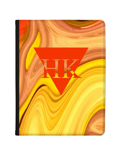 Orange And Yellow Marbled Ink tablet case available for all major manufacturers including Apple, Samsung & Sony