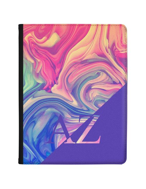 Purple Swirled Marbled Ink tablet case available for all major manufacturers including Apple, Samsung & Sony