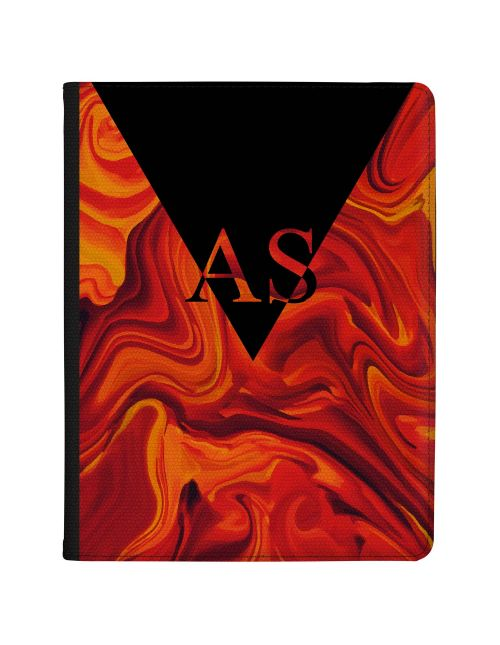 Red Orange And Black Marbled Ink tablet case available for all major manufacturers including Apple, Samsung & Sony