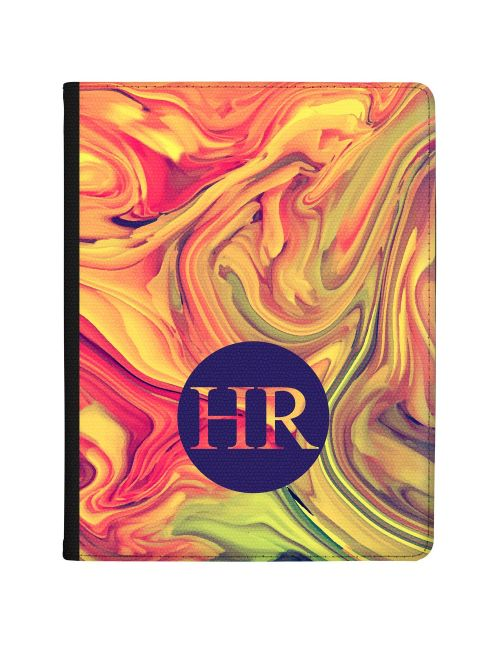 Yellow And Pink Marbled Ink tablet case available for all major manufacturers including Apple, Samsung & Sony