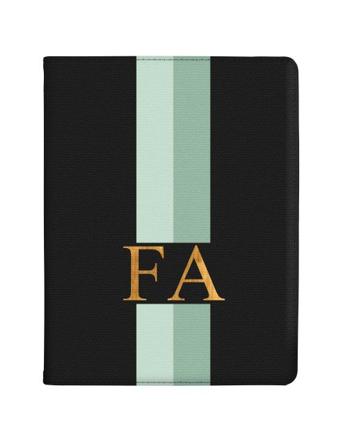 Mint Green Racing Stripes tablet case available for all major manufacturers including Apple, Samsung & Sony