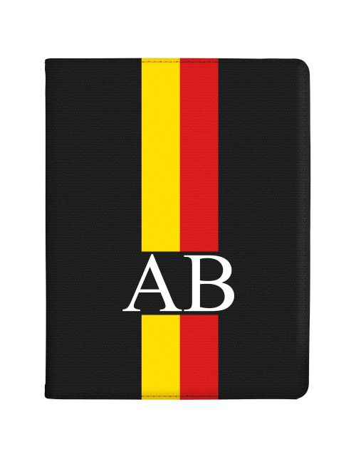 Yellow And Red Racing Stripes tablet case available for all major manufacturers including Apple, Samsung & Sony