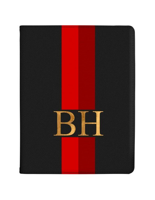 Red And Crimson Racing Stripes tablet case available for all major manufacturers including Apple, Samsung & Sony