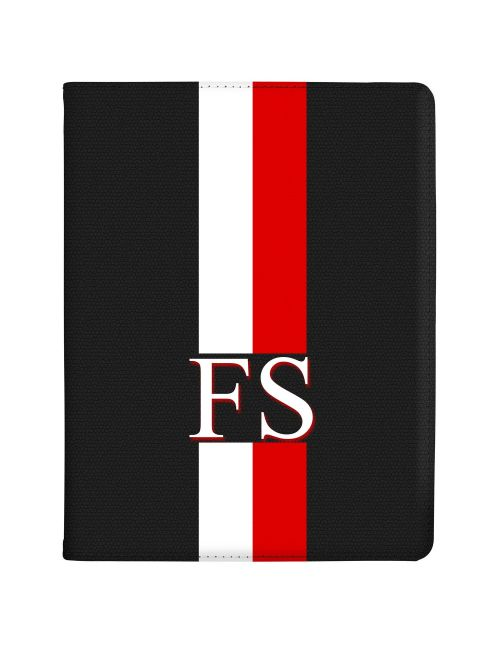 White And Red Racing Stripes tablet case available for all major manufacturers including Apple, Samsung & Sony