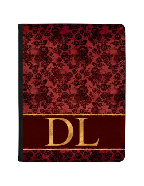 Crimson And Gold Skull Lace tablet case available for all major manufacturers including Apple, Samsung & Sony