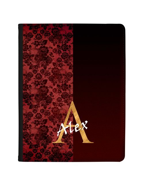 Half Crimson Skull Lace tablet case available for all major manufacturers including Apple, Samsung & Sony