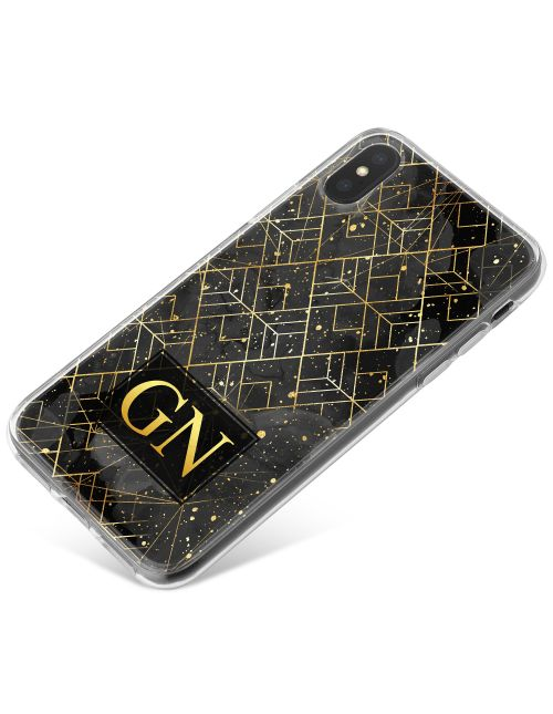 Black Marble & Gold phone case available for all major manufacturers including Apple, Samsung & Sony