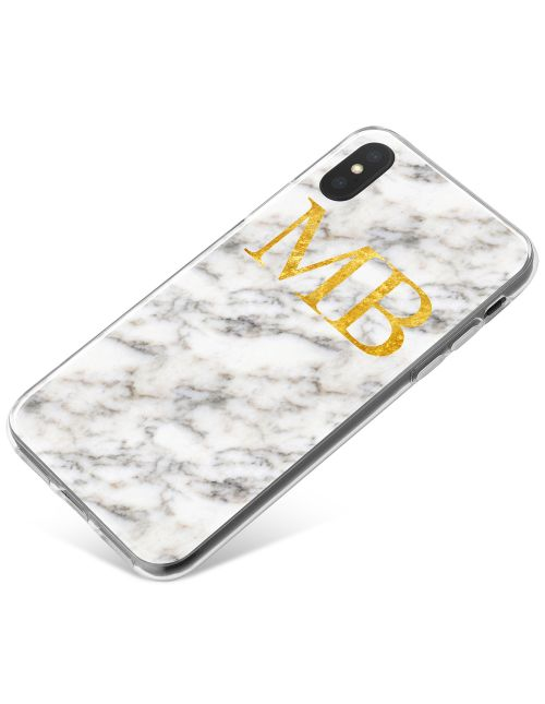 White & Grey Marble Effect phone case available for all major manufacturers including Apple, Samsung & Sony